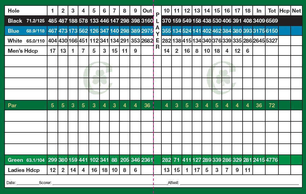 photograph relating to Printable Golf Scorecard identified as Scorecard - Connemara Golfing Study course
